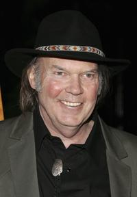 Neil Young at the premiere of