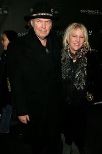 Neil Young and Pegi Young at the premiere of