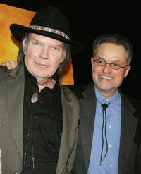 Neil Young and Jonathan Demme at the Los Angeles screening of