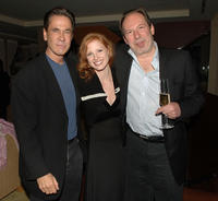 Producer Dan Ireland, Jessica Chastain and Hans Zimmer at the cocktail reception during the Crescendo Award.
