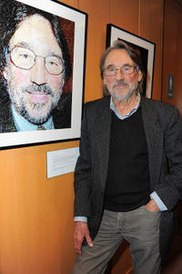 Vilmos Zsigmond at the Academy of Motion Picture Arts and Sciences' Winter Exhibition opening reception in California.