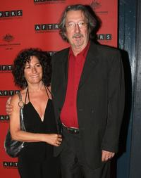 Michael Caton and wife at the Australian Film Television & Radio School gala event.