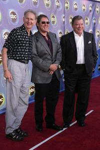 Rene Auberjonois, James Spader and William Shatner at the ABC TCA party.
