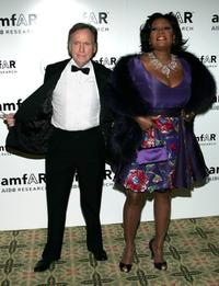 Dick Cavett and Patti LaBelle at the amfAR New York Gala.