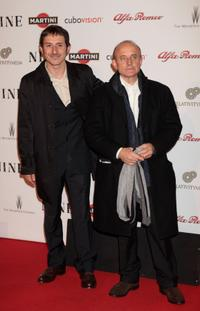 Michele Alaique and Giuseppe Cederna at the Rome screening of