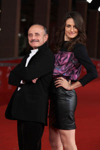 Giuseppe Cederna and Anita Kravos at the premiere of
