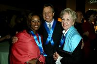 Donzaleigh Abernathy, Michael York and Pat York at the launch of Global Vison for Peace.