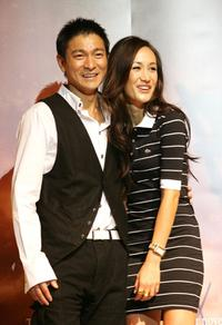 Andy Lau and Maggie Quigley at the news conference to promote