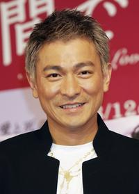 Andy Lau at the press conference promoting