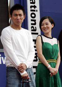 Andy Lau and Taiwan Director Robin Lee Yun-Chan at the Pusan International Film Festival (PIFF).