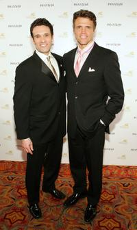 Anthony Crivello and Brent Barrett at the after party following the opening night performance of