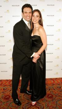Anthony Crivello and Sierra Boggess at the after party of the opening night performance of