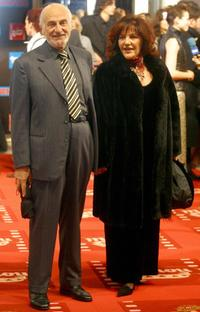 Hector Alterio and his wife at the Goya Award ceremony.