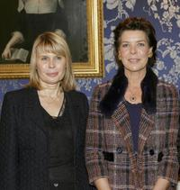 Candice Patou and Princess Caroline of Hanover at the Cultural Merit Order in occasion of Monaco National Day.