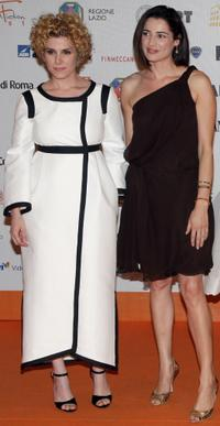 Cecilia Dazzi and Luisa Ranieri at the Roma Fiction Fest 2008.