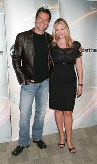 David James Elliott and Natasha Henstridge at the 2009 Disney & ABC Television Group summer press junket.