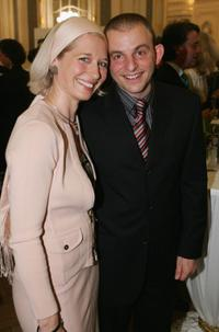 Anna Wittig and Dominique Horwitz at the 100th anniversary of German luxury goods maker Montblanc.