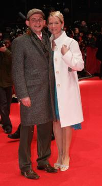 Dominique Horwitz and Anna Wittig at the opening night of the 56th Berlin International Film Festival.