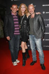 Dominique Horwitz, Andrea Sawatzki and Christian Berkel at the Mercedes-Benz Fashion Week in Berlin.