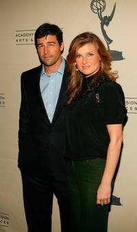 Kyle Chandler and Connie Britton at the Academy of Television's