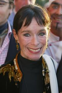 Geraldine Chaplin at the Hoffest party.