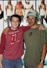 Michael Angarano and Tony Alva at the opening of