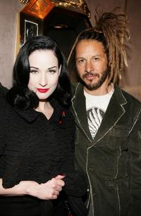 Dita Von Teese and Tony Alva at the Harry Winston Gala reception of new Beverly Hills Rodeo Drive store honoring the Motion Picture and Television Fund.