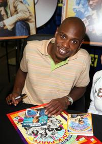 Dave Chappelle at the signing of DVD copies of
