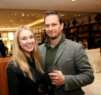 Sophie Flack and Josh Charles at the Domino Magazine party.