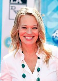 Jeri Ryan at the American Idol Season 7 Grand Finale.