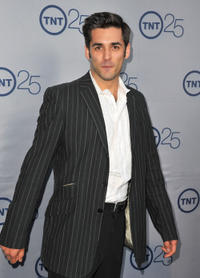 Jordan Bridges at the TNT's 25th Anniversary Party in California.