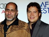 Guillermo Arriaga and Julio Cedillo at the screening of