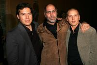 Julio Cedillo, Guillermo Arriaga and Barry Pepper at the screening of