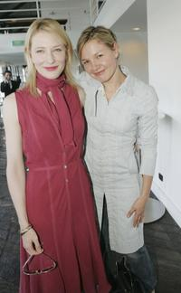 Cate Blanchett and Justine Clarke at the Sydney Theatre Company 2005 Season Launch (STC).