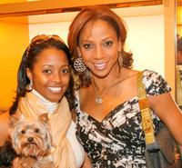 Keshia Knight Pulliam and Holly Robinson Peete at the Louis Vuitton charity to benefit HollyRod.