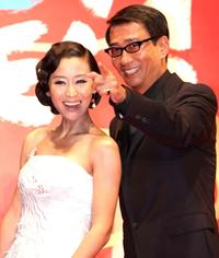 Miao Pu and Kiichi Nakai at the 20th Tokyo International Film Festival (TIFF).