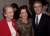 Anne Kaufman Schneider, Kitty Carlisle Hart and Todd Haimes at the party of the opening of