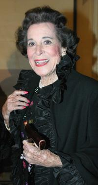 Kitty Carlisle Hart at the 10th annual Awards & Gala Benefit Dinner.