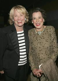 Liz Smith and Kitty Carlisle Hart at the 80th birthday party of legendary musician Bobby Short.