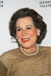 Kitty Carlisle Hart at the Manhattan Theater Club Spring Gala.