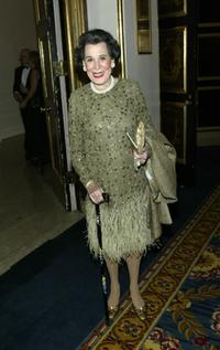 Kitty Carlisle Hart at the National Actors Theater Benefit