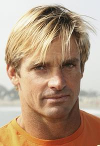 Laird Hamilton at the Paddle Out Protest at Malibu Surfrider Beach.