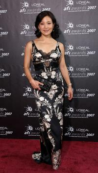 Joan Chen at the L'Oreal Paris 2007 AFI Awards Dinner.
