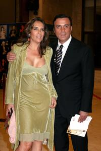 Paola Romano and Massimo Ghini at the Italian Film Academy's 50th David di Donatello Awards Ceremony.