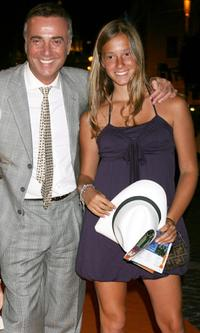 Massimo Ghini and his daughter at the Roma Fiction Fest 2008 dinner gala.
