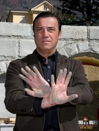 Massimo Ghini at the hand print ceremony during the