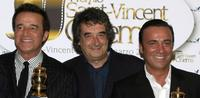 Christian De Sica, Neri Parenti and Massimo Ghini at the