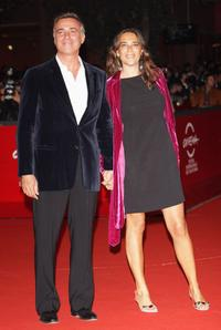 Massimo Ghini and Guest at the premiere of