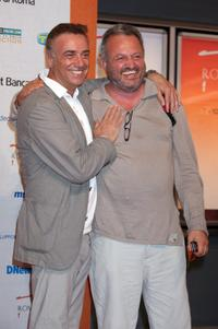 Massimo Ghini and Steve Della Casa at the Roma Fiction Fest 2008.