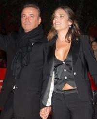 Massimo Ghini and Paola Romano at the premiere of